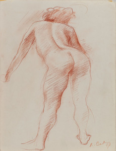 Female Nude Seen from the Back Leaning Forward (Babin, 1967)