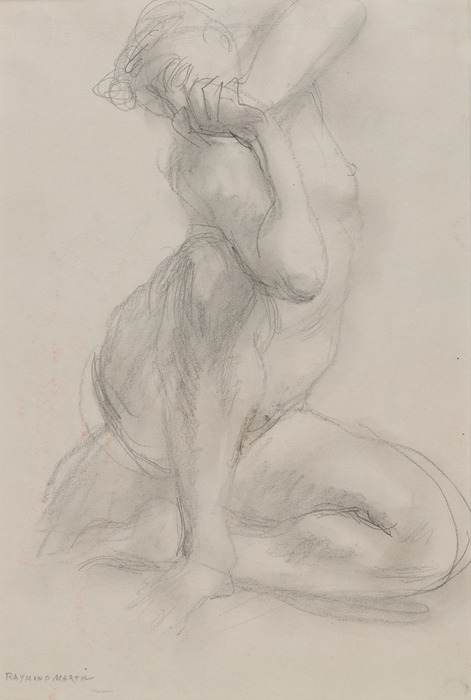 Seated Woman, Twisted, Hands Clasped (Martin)